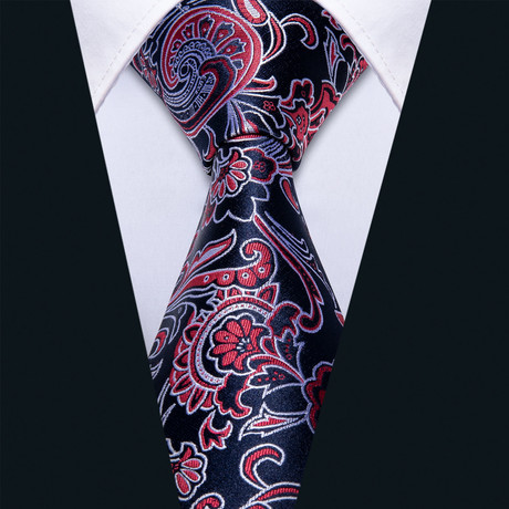Mercy Handmade Silk Tie // Navy + Red