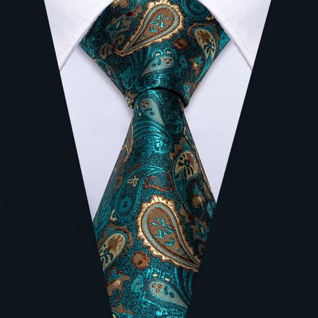 Edan Handade Silk Tie // Emerald