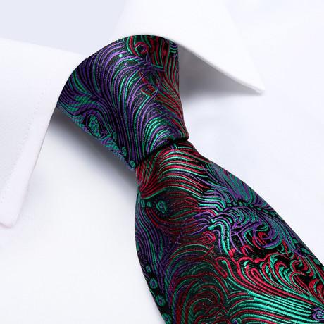 Mosiac Handmade Silk Tie // Black