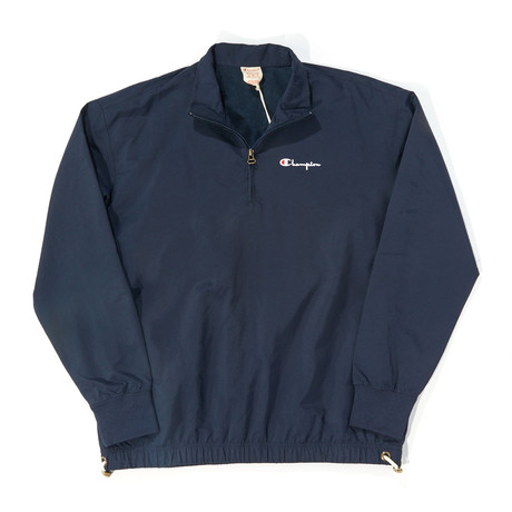 Nylon 1/4 Zip Pullover // Navy (S)