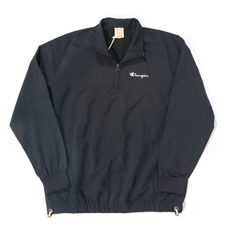 Nylon 1/4 Zip Pullover // Black (S)