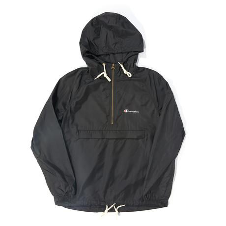 Half-Zip Pullover Hoodie // Black (S)