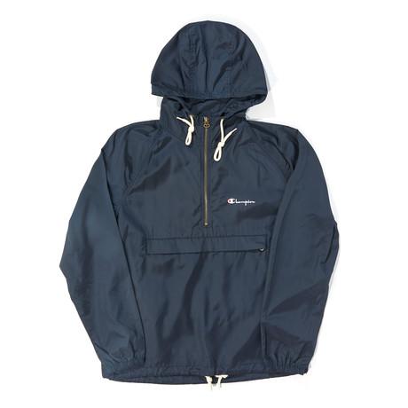 Half-Zip Pullover Hoodie // Navy (S)