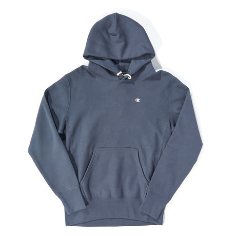 Reverse Weave Pullover Hoodie // Stealth (XS)