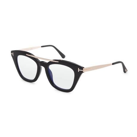 Women's FT0575-001 Anna Sunglasses // Shiny Black + Clear