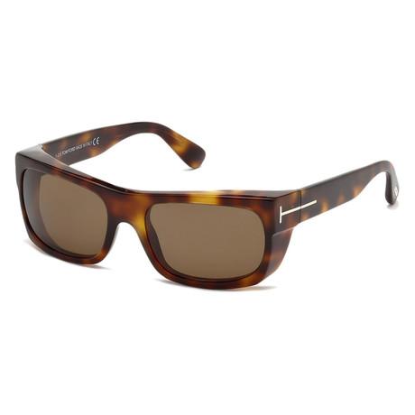 Men's FT0440-53J-56 Toby Sunglasses // Blonde Havana + Brown