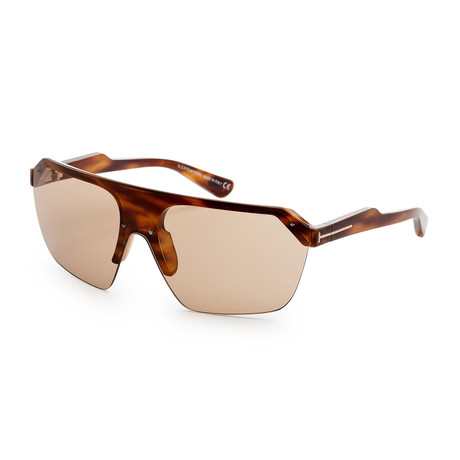 Men's FT0797-55E-00 Razor Sunglasses // Colored Havana + Brown