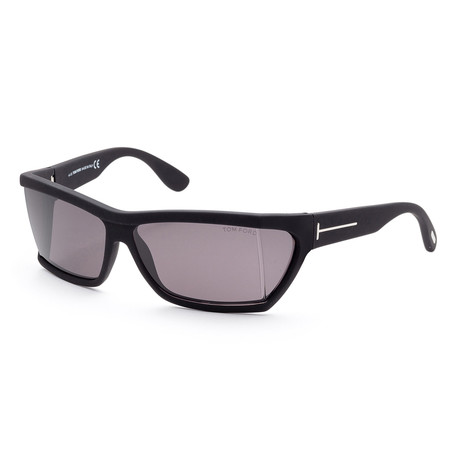 Unisex FT0401-02A-59 Sasha Sunglasses // Matte Black + Gray