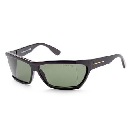 Unisex FT0401-01N-59 Sasha Sunglasses // Shiny Black + Green