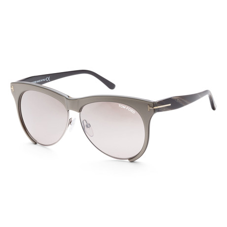 Women's FT0365-38G-59 Leona Sunglasses // Bronze + Brown Mirror