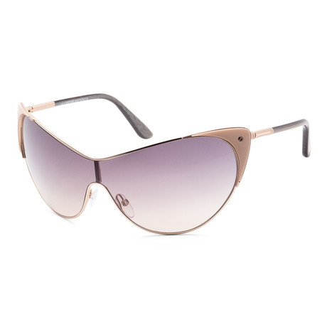 Women's FT0364-74B Vanda Sunglasses // Rose Gold + Gray Gradient