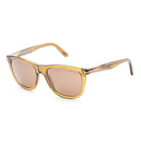 Men's FT0500-98E-54 Andrew Sunglasses // Yellow + Brown