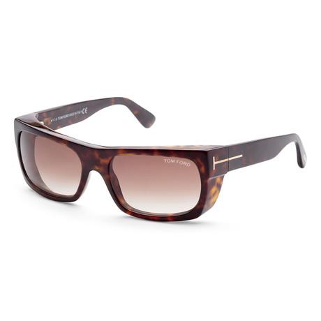 Men's FT0440-52K-56 Toby Sunglasses // Dark Havana + Brown