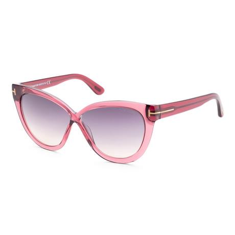 Women's FT0511-69B-59 Arabella Sunglasses // Shiny Bordeaux + Smoke Gradient