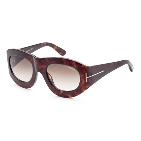 Women's FT0403-56B-53 Mila Sunglasses // Dark Havana + Gray Gradient