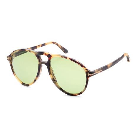 Men's FT0645-56N-57 Lennon Sunglasses // Havana + Green
