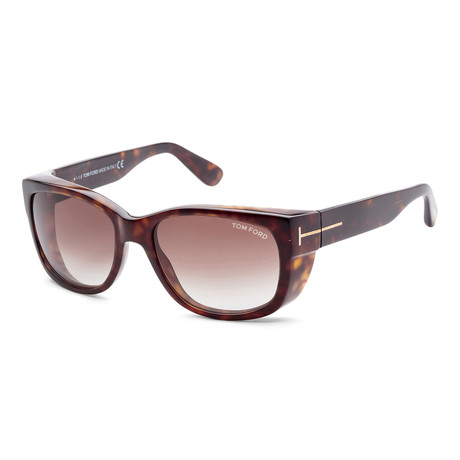 Men's FT0441-52K-56 Carson Sunglasses // Dark Havana + Gray Gradient