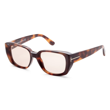 Men's FT0492-52E-52 Raphael Sunglasses // Dark Havana + Brown