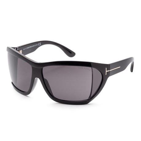 Women's FT0402-01A-62 Sedgewick Sunglasses // Shiny Black + Gray