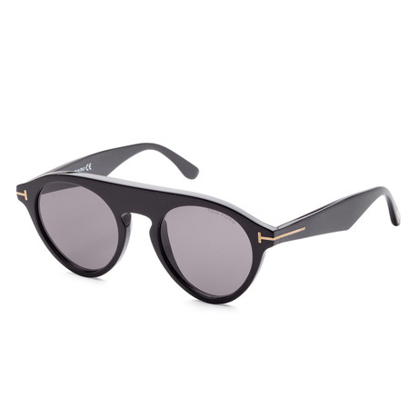 Unisex FT06331-49 Christopher Sunglasses // Shiny Black + Light Blue