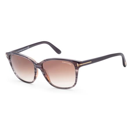Women's FT0432-20F-59 Dana Sunglasses // Gray + Brown