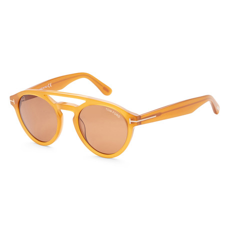 Men's FT0537-41E-50 Clint Sunglasses // Yellow + Brown