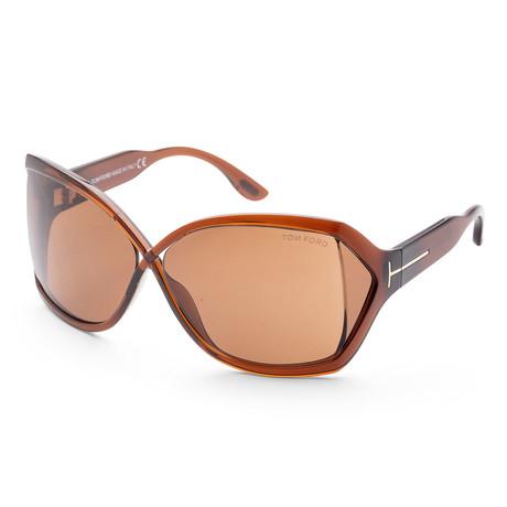 Women's FT0427-48J-62 Julianne Sunglasses // Shiny Dark Brown + Brown