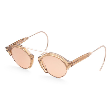Unisex FT0631-45E-49 Farrah Sunglasses // Shiny Light Brown + Brown
