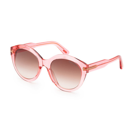 Women's FT0661-72F-54 Rosanna Sunglasses // Shiny Pink + Gradient Brown