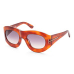 Women's FT0403-52B-53 Mila Sunglasses // Light Havana + Gray