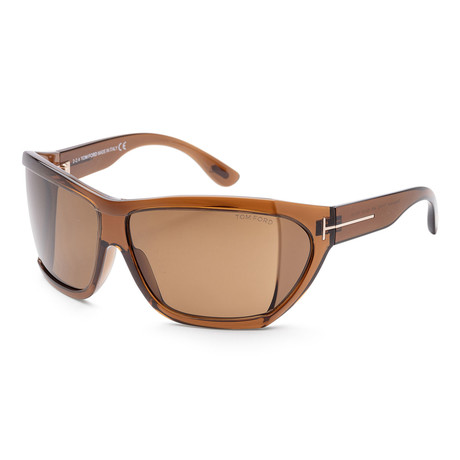 Women's FT0402-48E-62 Sedgewick Sunglasses // Shiny Dark Brown + Brown