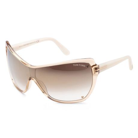 Women's FT0363-41G Ekatrina Sunglasses // Yellow Brown + Brown