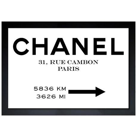 "Couture Road Sign Minimalist (22""H x 32""W x 0.5""D)"