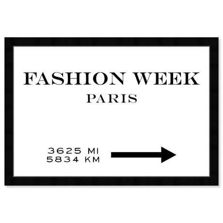 "Fashion Week Road Sign (22""H x 32""W x 0.5""D)"