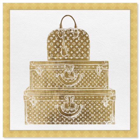 """Royal Bag and Luggage Gold (32""""H x 32""""W x 0.5""""D)"""