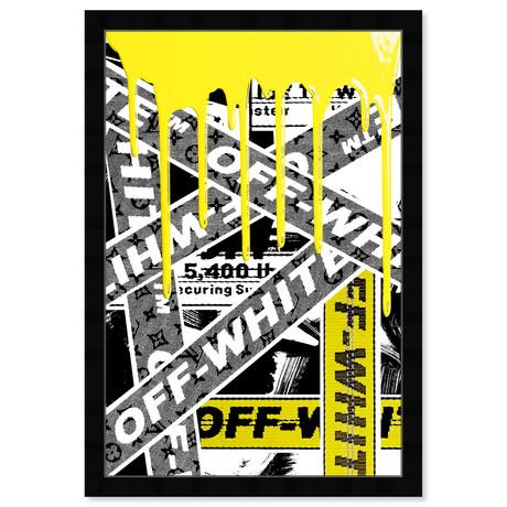 """Not Art But Yellow OFF Art (32""""H x 22""""W x 0.5""""D)"""