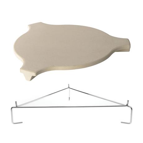 Stone Plate Setter + Elevator Rack For Grills