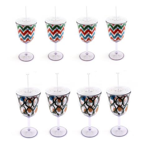 Acrylic Glass 8-Piece Set