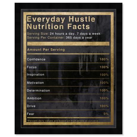 """Hustle Nutrition Facts (32""""H x 26""""W x 0.5""""D)"""
