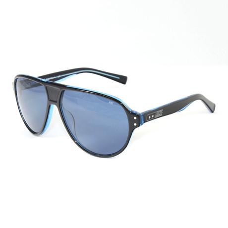 Unisex EV0725-044 MDL235 Sport Sunglasses // Black + Crystal Blue
