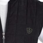 Quilted Textured Vest // Black (M)