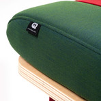 On the Road Fabric Bench (Green + Red)