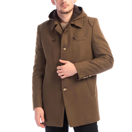 Hamptoms Overcoat // Camel (Small)