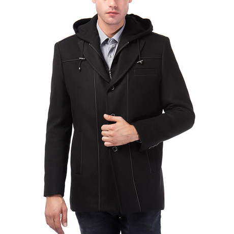 Shasta Overcoat // Black (Small)