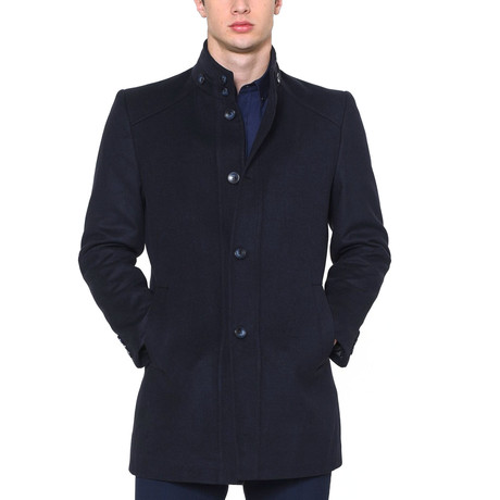 Canyon Overcoat // Dark Blue (Small)