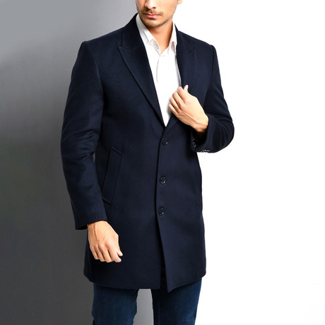 La Plata Overcoat // Dark Blue (Small)