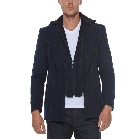 Shasta Overcoat // Dark Blue (Small)