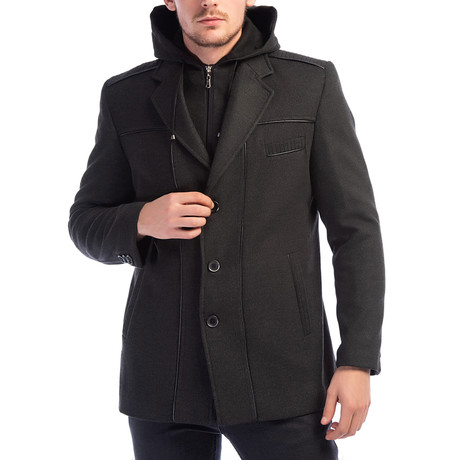 Shasta Overcoat // Anthracite (Small)