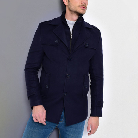 Borah Coat // Dark Blue (Small)