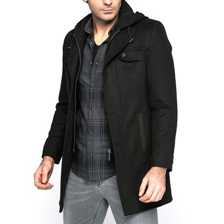 Miami Overcoat // Black (Small)